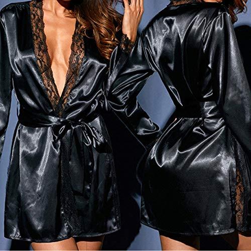 Amazon.com: 2019 Valentines Day Women Sexy Silk Kimono Dressing Babydoll Lace Lingerie,Clearance Lace Deep V Neck Kimono Robe Babydoll: Clothing