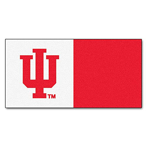FANMATS NCAA Indiana University Hoosiers Nylon Face Team Carpet Tiles by Fanmats