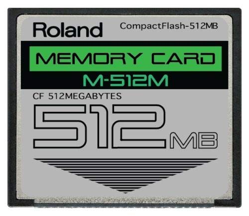 (Roland 512MB M-512M CompactFlash CF Memory Card Upgrade for SPD-S, SP-404, SP-555, SP-606, MC-808, G-70, TD-20, Fantom X and Others)