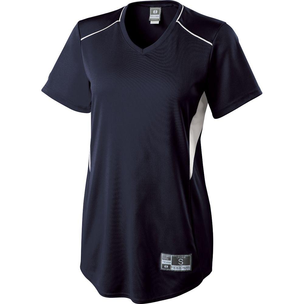 Women 's Holloway Rematchソフトボールジャージースポーツウェア B00E7NUGVO X-Large|ネイビー/ホワイト ネイビー/ホワイト X-Large