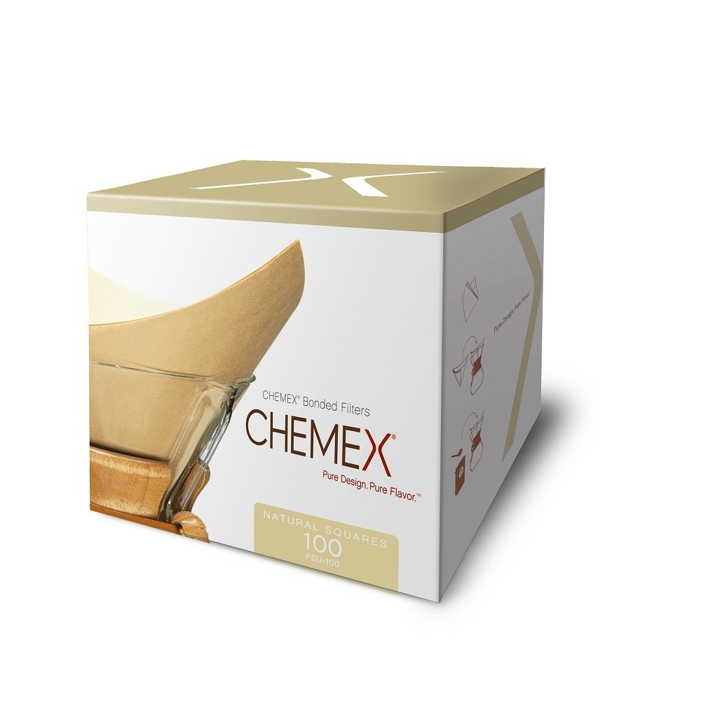 Chemex Natural Coffee Filters, Square, 300 ct - Exclusive Packaging by Chemex