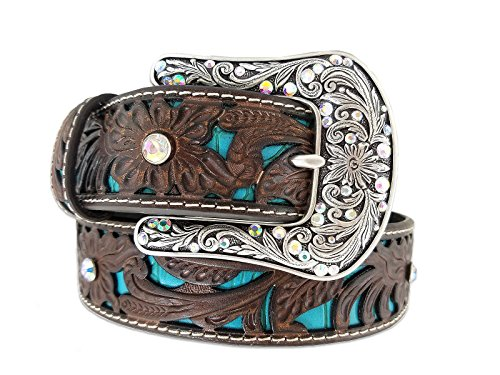Leather Turquoise Rhinestone - 2