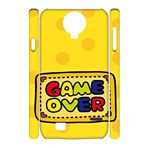 Game Over Design Unique Customized 3D Hard Case Cover for SamSung Galaxy S4 I9500, Game Over Galaxy S4 I9500 3D Cover Case