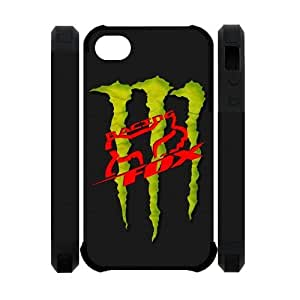 Different Style Custom Personalized Extreme Sports Fox Racing Silicone Iphone 4 4S Case Fox Racing Logo Cover Iphone 4 4S TU551081