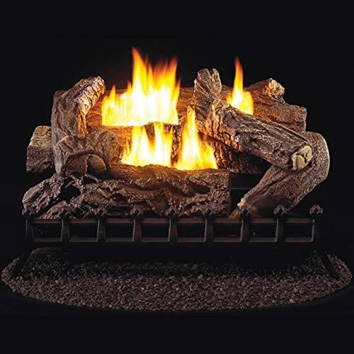 ProCom WZL30MVA Yellow Flame Vent-Free Gas Log Heater Set
