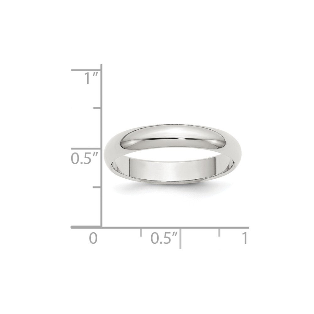 Wedding Bands Classic Bands Domed Bands Sterling Silver 4mm Half-Round Band Size 5.5