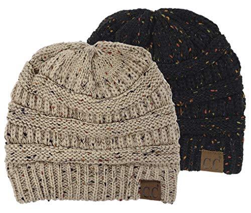 Jual Funky Junque Confetti Knit Beanie - Thick Soft Warm Winter Hat ... 39151e3c02eb