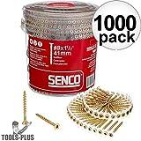 SENCO 08F150Y 8-Gauge x 1-1/2 in. Collated Flooring Screws 1,000-Pack