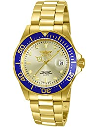 Men's 14124 Pro Diver Gold Dial 18k Gold Ion-Plated Stainless Steel Watch