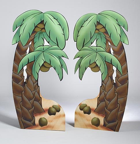 Tropical Luau Summer Palm Tree Standee Standup Photo Booth Prop Background Backdrop Party Decoration Decor Scene Setter Cardboard Cutout