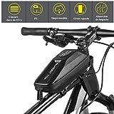 Uplayteck Bolsa de Bicicleta Impermeable,Bolsa de Cuadro de Bicicleta,Bolsa de Accesorios de Ciclismo,Paquete de Cuadros de Ciclismo con Diseño de Doble Cremallera
