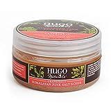 Hugo Naturals Body Scrub, Himalaya Pink Salt & Grapefruit, 9 Ounce Jar