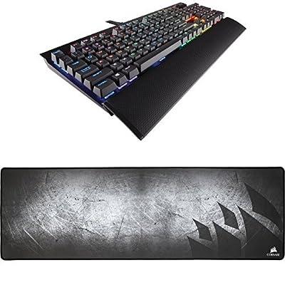 Corsair Gaming K70 RGB RAPIDFIRE Mechanical Keyboard, Backlit RGB LED, Cherry MX Speed RGB and Corsair Gaming MM300 Anti-Fray Cloth Gaming Mouse Pad
