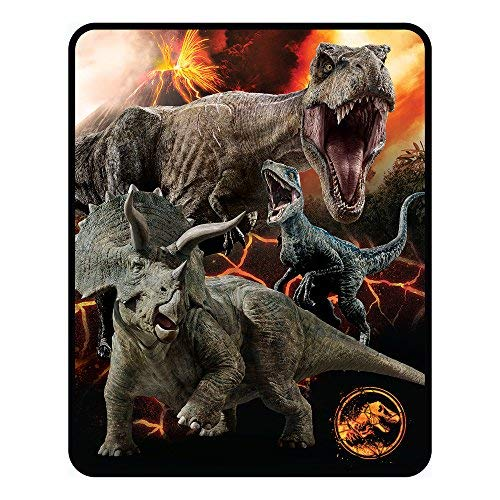 """Price comparison product image Jurassic World Silk Touch Throw 50"""" x 60"""""""