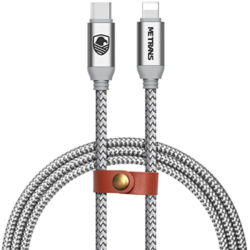 USB C to Lightning Cable, Metrans 3FT [Upgrade] USB 2.0 Type C to Lightning Sync &Data Cable for iPhone iPad Connect to Macbook and other Type-C Devices (3ft/1m) (1 Pack, Silver)