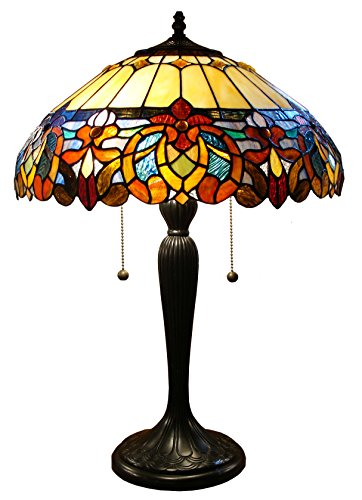 (Fine Art Lighting Tiffany 426 Cuts Of Stained Glass and 16-Piece Cabochons on Table Lamp, 16 by)