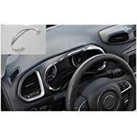 Nicebee Interior Accessories Car Dashboard Decorative Interior Mouldings ABS Chrome Dashboard Box Cover Trim For Jeep Renegade 2015-2016