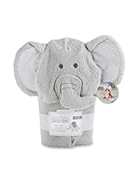 Baby Aspen Little Peanut Elephant Hooded Spa Towel, Grey/White BOBEBE Online Baby Store From New York to Miami and Los Angeles