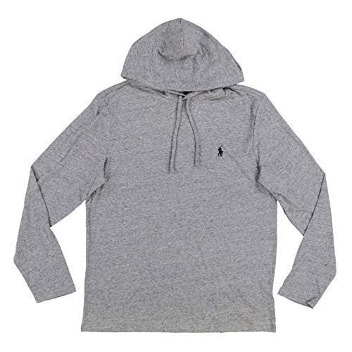 Polo Ralph Lauren Mens Pullover Hoodie T-Shirt (Small, Grey Heather) ()