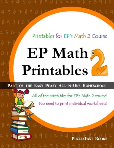 EP Math 2 Printables: Part of the Easy Peasy All-in-One Homeschool