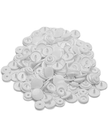 LOT 8 BOUTONS  Blanc Nacré NEUFS 1,3 cm 2 trous white button 13 mm