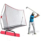 Fashine 10 x 7ft Golf/Baseball/ Soccer/Lacrosse Training Pitching Hitting Net Practice Driving Indoor and Outdoor with Bow Frame and Carrying Bag (US Stock)