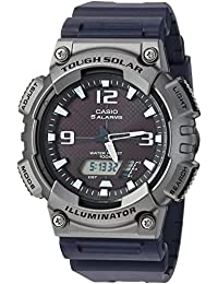 Casio Men's 'Tough Solar' Quartz Resin Casual Watch, Color: Black (Model: AQS810W-1A4V)
