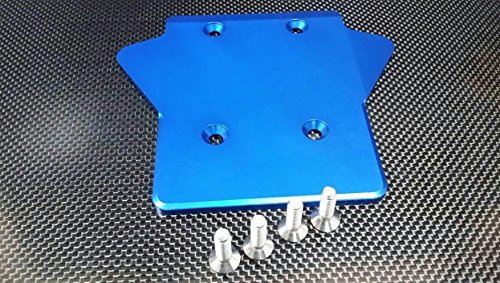 Team Losi 5ive-T Upgrade Parts Aluminum 7075 Rear Gear Box Protector - 1Pc ()
