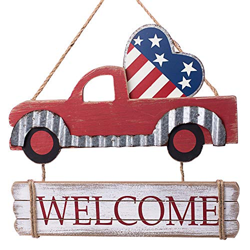 Patriotic Heart Welcome Truck Sign - 14