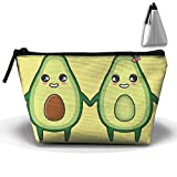 UEYYP Nutrition Avocado Couple Women's Cute Zippered Makeup Bag Large Trapezoidal Cosmetic Travel Bag Portable Pouch Multifunction Toiletries Organizer Bag
