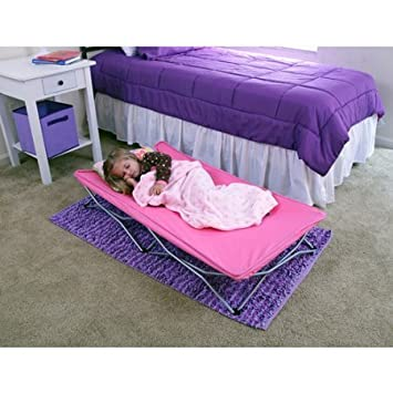Regalo My Cot Pink Portable And Durable Folding Travel Bed Includes A Convenient Carrying Case With