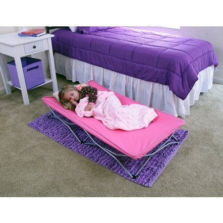 Regalo My Cot Pink Portable Folding Travel Bed with Travel Bag