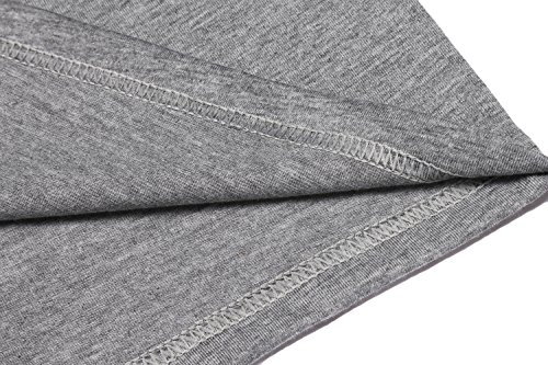 Zuckerfan Men's Polo Casual Slim Fit Short Sleeve Polo Shirts(Grey,L) by Zuckerfan (Image #6)