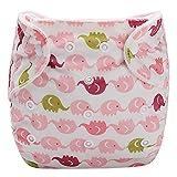 Little Story Baby Leakproof Diaper Pants Adjustable Diaphragm Training Pants Baby Infant Kid Pink