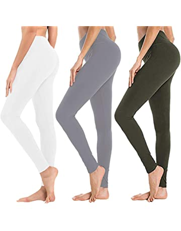 7408bee7e1d High Waisted Leggings for Women – Soft Athletic Tummy Control Pants for  Running Cycling Yoga Workout
