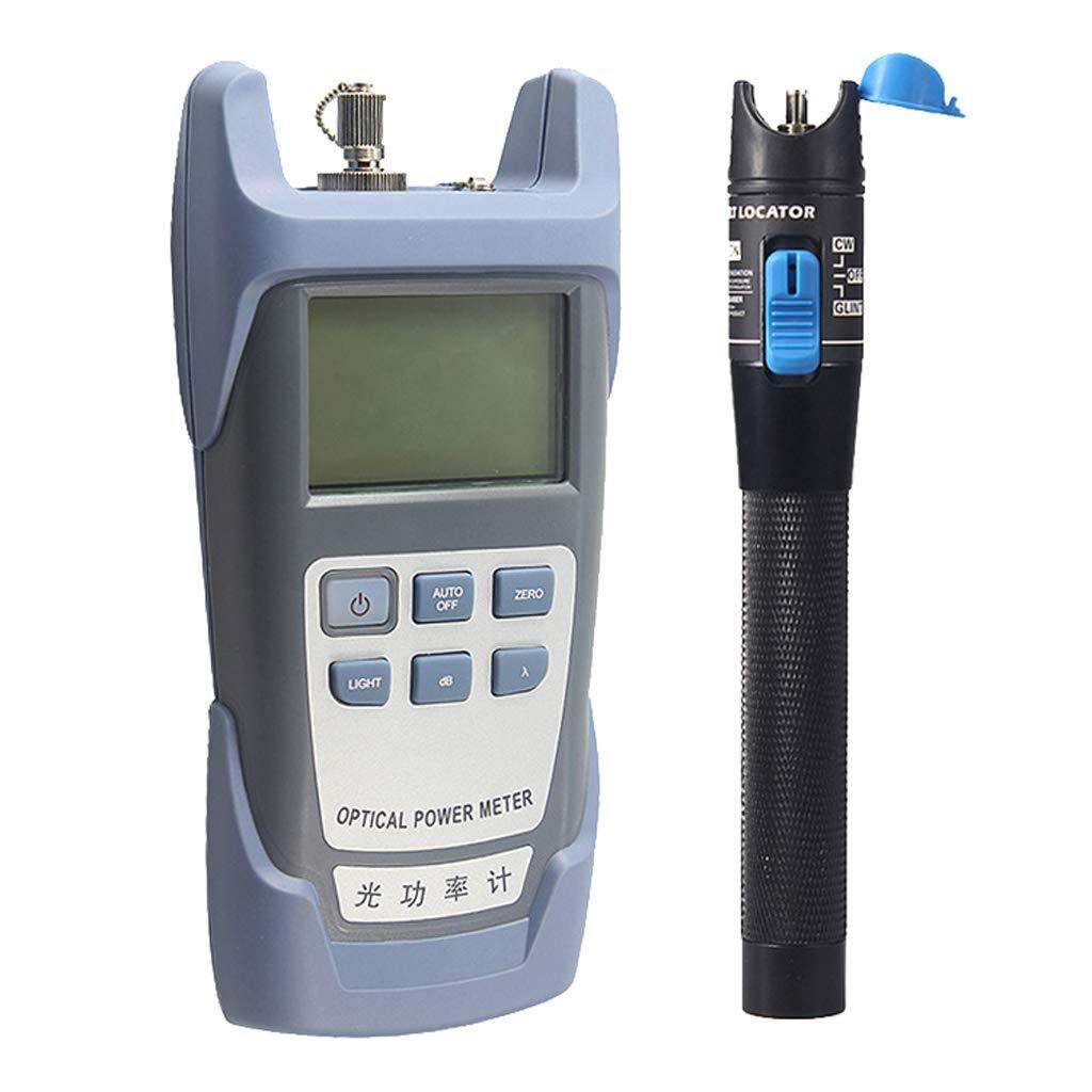 SM SunniMix AUA-9-70dBm~+10dBm 850~1625nm Optical Power Meter Tester FC SC Handheld Optical Power Meter + with 1mW Visual Fault Locator Pen Tools by SM SunniMix (Image #1)