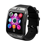 Smart Watch Phone Wireless Bluetooth Sweatproof Smartwatch with Camera Sleep Monitor Fitness Wrist watch for Android Samsung Galaxy S5 S6 S7 HTC Sony LG G3 G4 G5 Edge S8 Google Pixel Huawei (black)