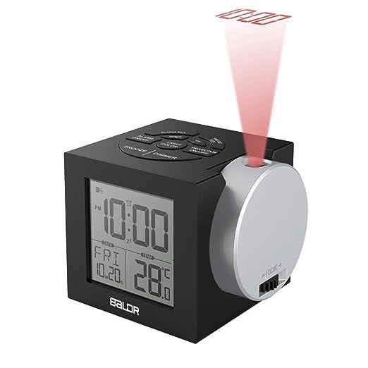 ANDE Radio Reloj Despertador con Proyector, 7 Colores de luz de ...