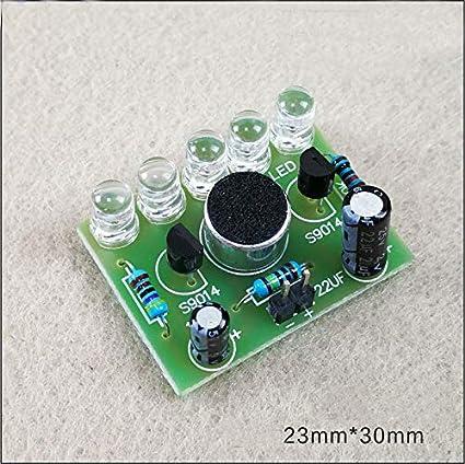 Amazon Com 5pcs Diy Electronic Kit Sound Activated High Brightness