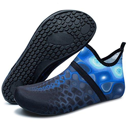 Water Dive Barefoot Shoes Run Skin Swim L for RUN Yoga blue Shoes black Mid Beach Unisex Surf EwzfFqR