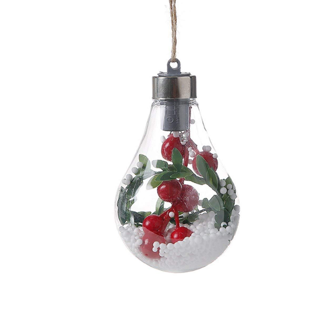 Hanfseil Ball Glü hbirne Hä ngelampe Weihnachtsbaum Dekoration Licht Home Schlafzimmer Nachtlicht Dooret