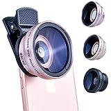 【正規代理店】LIEQI LQ-027 スマホ用カメラレンズ iphone 広角レンズ 0.45倍 マクロレンズ 10倍 自撮り 風景撮影 集合写真 iphone ipad xperia samsung sony android 対応 《メーカー保証12ヶ月》 (ローズゴールド)
