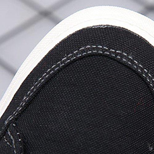 Scarpe scarpe Gray uomo maschili Black Espadrillas Color selvatiche basse stile basse Size basso maschile taglio uomo con YaNanHome da coreano 42 da Scarpe basse IxPPXz