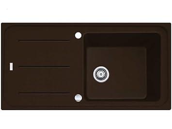 Spülbecken granit braun  Franke Impact G IMG 611-100 G Chocolate Granit-Spüle Braun ...
