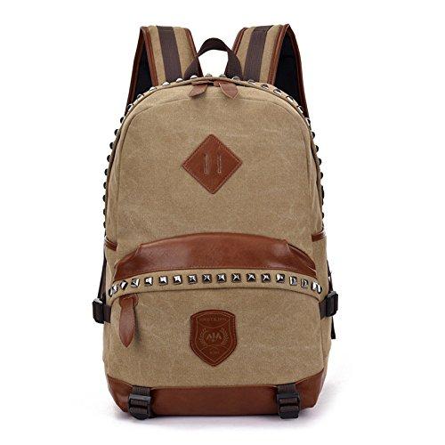 Mountaineering Canvas Tasche Korea Style Lightweight Schule niet Tasche Rucksack Rucksack Mode Freizeit Reisen Daypack , schwarz