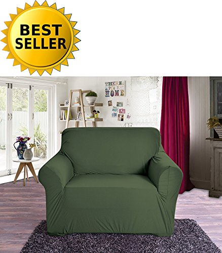 Elegant Comfort Collection Luxury Soft Furniture Jersey Stretch SLIPCOVER, Chair Sage-Green