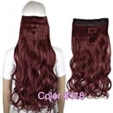 "Heat Resistant B5 Synthetic Hair Fiber 26"" 65cm 130gr Wavy 5 clips on"