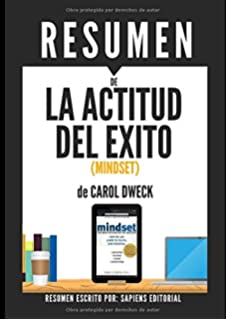 Mindset spanish edition carol dweck 9788416579167 amazon books resumen de la actitud del exito mindset de carol dweck fandeluxe Images