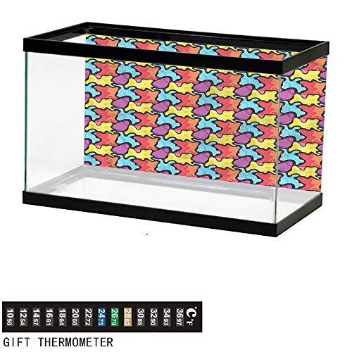bybyhome Fish Tank Backdrop Colorful,Graffiti Composition,Aquarium Background,30