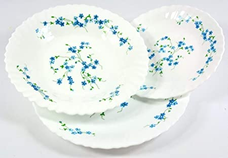 Arcopal 18pc VERONICA Dinner Set ( 6 plates each in 25cm / 23cm ...